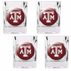 Texas A&M 4 Piece Shot Glass Set