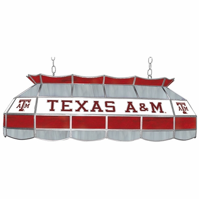Texas A&M 40 Inch Rectangular Stained Glass Billiard Light