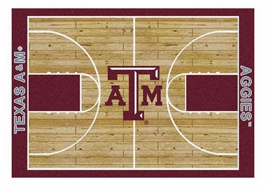 "Texas A&M 5'4"" x 7'8"" Premium Court Rug"