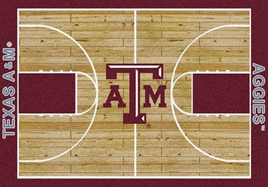 "Texas A&M 7'8"" x 10'9"" Premium Court Rug"