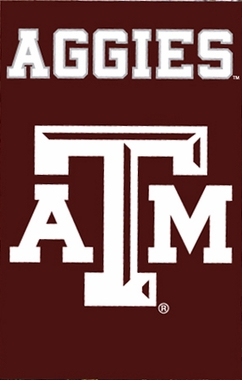 Texas A&M Applique Banner Flag