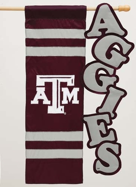 Texas A&M Applique Sculpted Flag