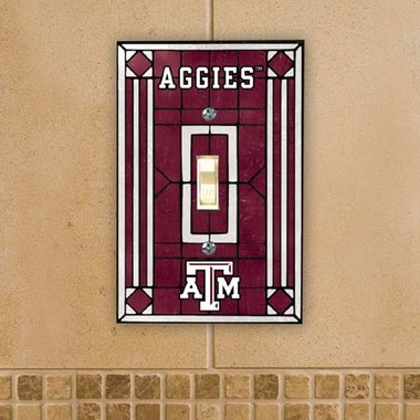 Texas A&M Art Glass Lightswitch Cover