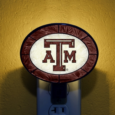 Texas A&M Art Glass Night Light