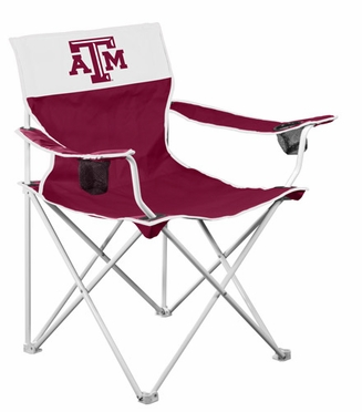 Texas A&M Big Boy Adult Folding Logo Chair