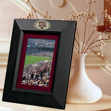 Texas A&M BLACK Portrait Picture Frame