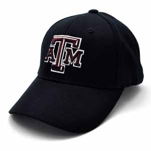 Texas A&M Black Premium FlexFit Baseball Hat - Small / Medium