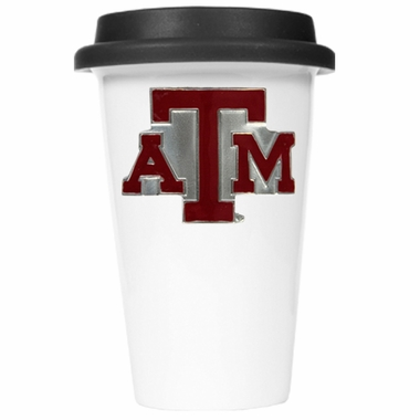 Texas A&M Ceramic Travel Cup (Black Lid)