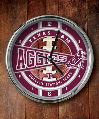 Texas A&M Chrome Clock