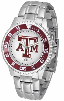 Texas A&M Competitor Men's Steel Band Watch