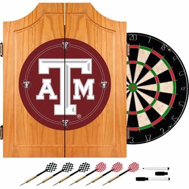 Texas A&M Complete Dart Cabinet