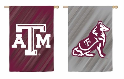 Texas A&M Double Sided Sub Suede Flag