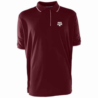 Texas A&M Mens Elite Polo Shirt (Team Color: Maroon)