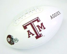 Texas A&M Embroidered Football
