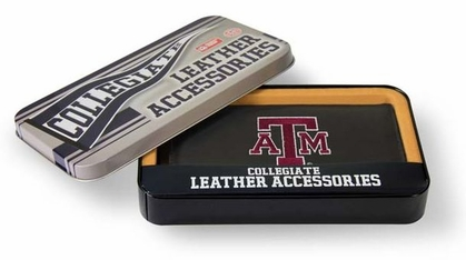 Texas A&M Embroidered Leather Checkbook Cover