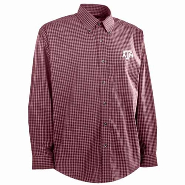 Texas A&M Mens Esteem Button Down Dress Shirt (Team Color: Maroon)