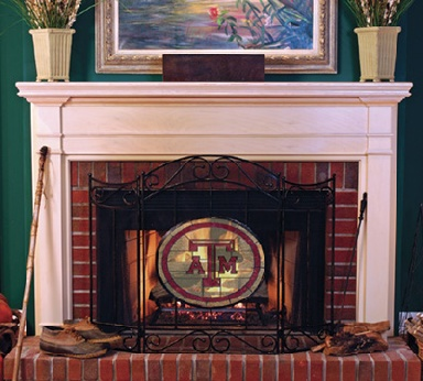Texas A&M Fireplace Screen