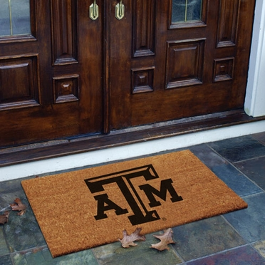 Texas A&M Flocked Coir Doormat