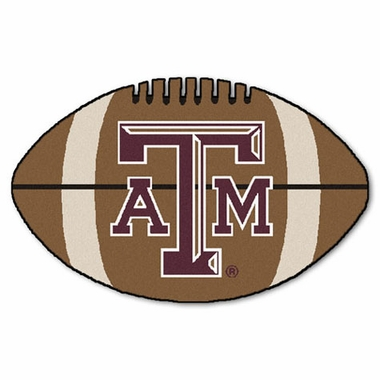 Texas A&M Football Shaped Rug