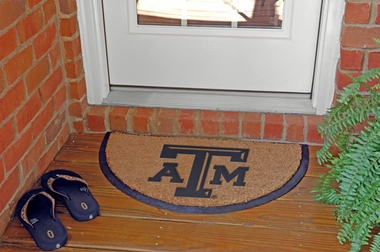 Texas A&M Half Moon Door Mat