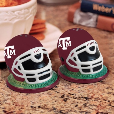 Texas A&M Helmet Ceramic Salt and Pepper Shakers