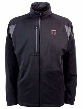 Texas A&M Mens Highland Water Resistant Jacket (Team Color: Black)