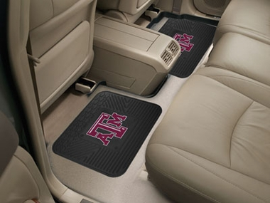 Texas A&M SET OF 2 Heavy Duty Vinyl Rear Car Mats