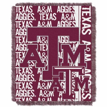 Texas A&M Jacquard Woven Throw Blanket