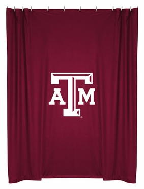Texas A&M Jersey Material Shower Curtain