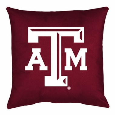 Texas A&M Jersey Material Toss Pillow