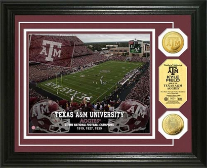 Texas A&M Aggies Texas A&M University Stadium Gold Coin Photo Mint