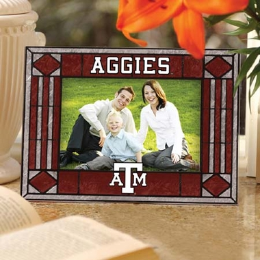 Texas A&M Landscape Art Glass Picture Frame