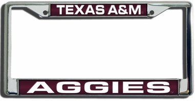 Texas A&M Laser Etched Chrome License Plate Frame