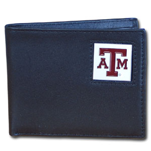 Texas A&M Leather Bifold Wallet (F)