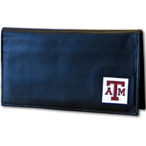 Texas A&M Leather Checkbook Cover (F)