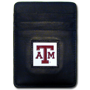 Texas A&M Leather Money Clip (F)