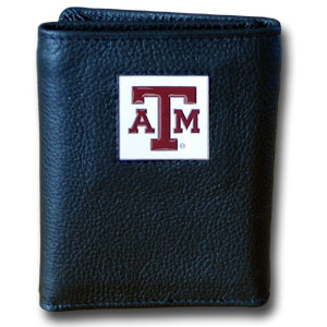 Texas A&M Leather Trifold Wallet