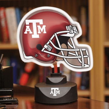 Texas A&M Neon Display Helmet