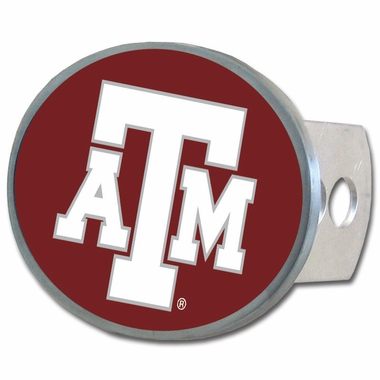 Texas A&M Oval Metal Hitch Cover