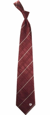 Texas A&M Oxford Stripe Woven Silk Necktie