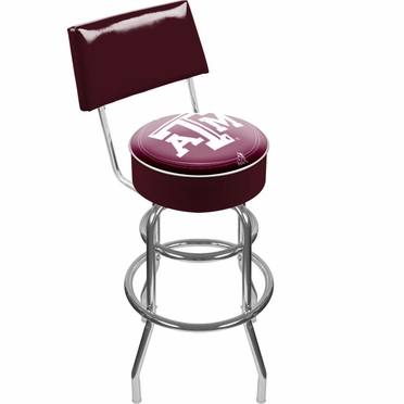 Texas A&M Padded Bar Stool with Back