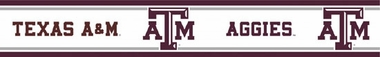 Texas A&M Peel and Stick Wallpaper Border
