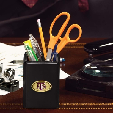 Texas A&M Pencil Holder (Black)