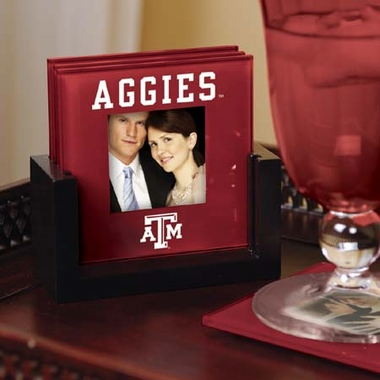 Texas A&M Photo Coaster Set