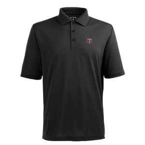 Texas A&M Mens Pique Xtra Lite Polo Shirt (Alternate Color: Black) - Medium