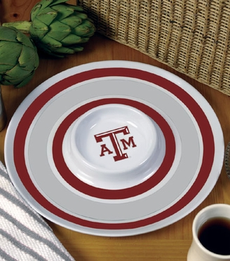 Texas A&M Plastic Chip and Dip Plate