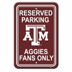 Texas A&M Plastic Parking Sign (P)