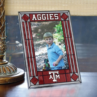 Texas A&M Portrait Art Glass Picture Frame