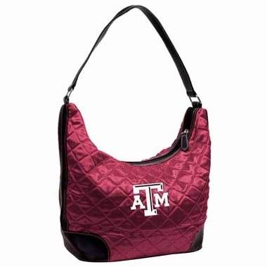 Texas A&M Quilted Hobo Purse