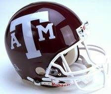 Texas A&M Riddell Full Size Authentic Helmet